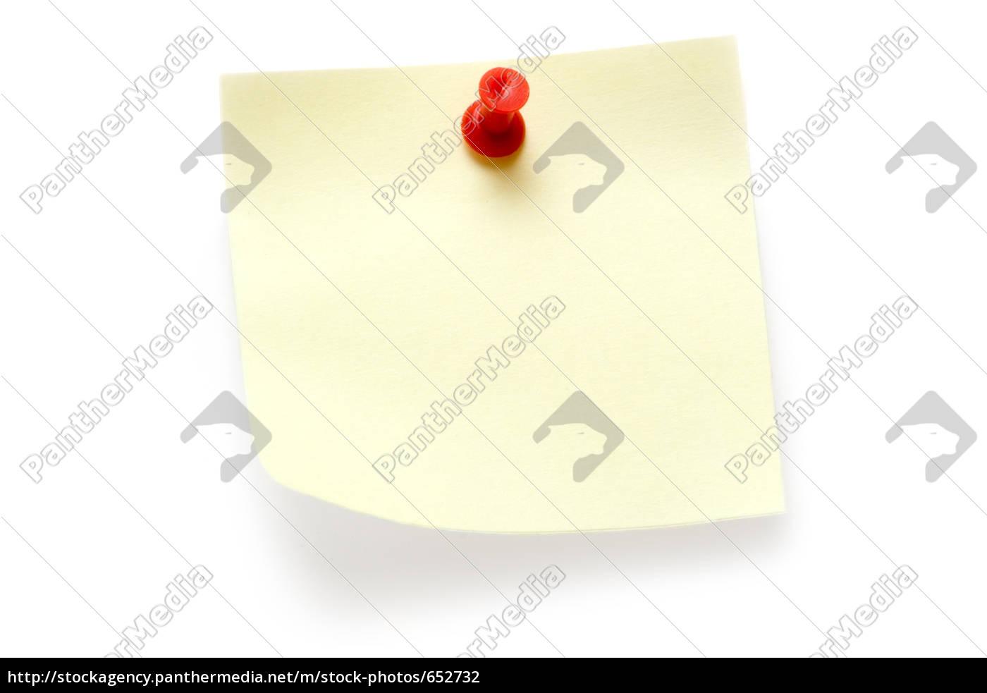 yellow, sticky, note - 652732