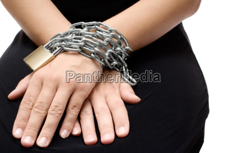bound woman hands