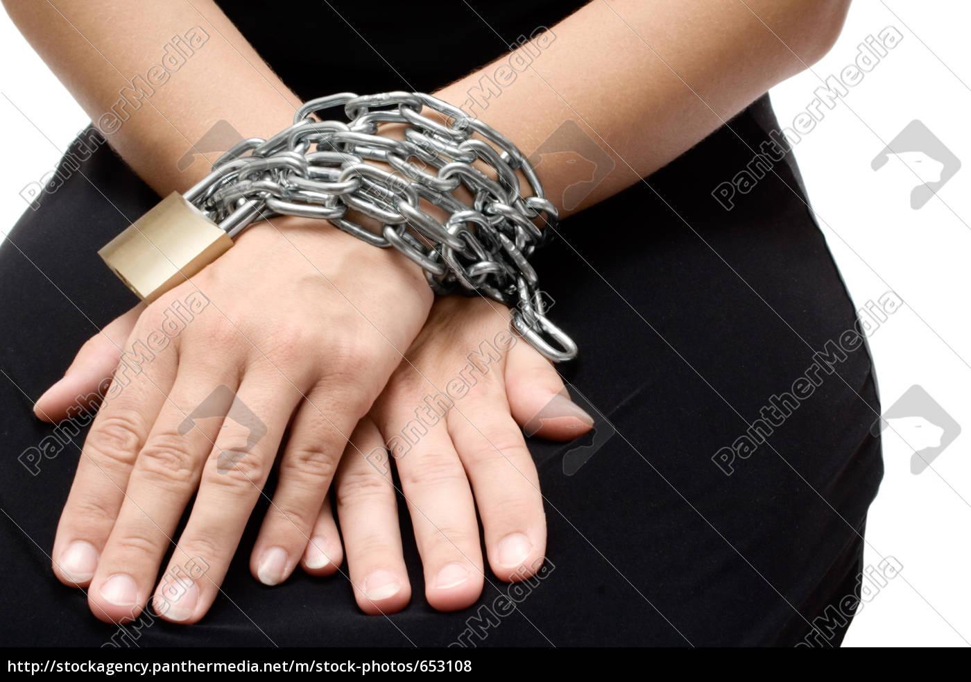 bound, woman, hands - 653108