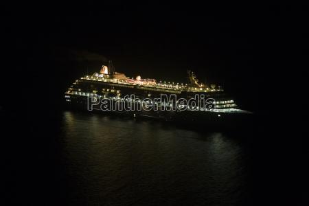 cruse, ship, by, night - 654538