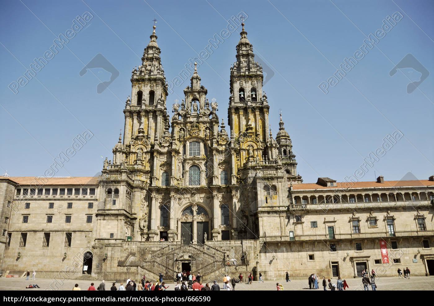 cathedral, santiago, de, compostela - 666590