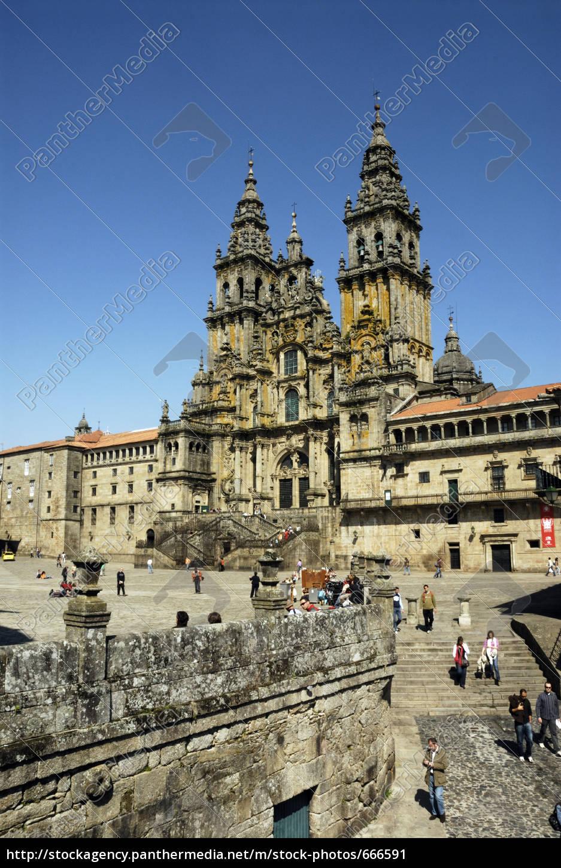 cathedral, santiago, de, compostela - 666591
