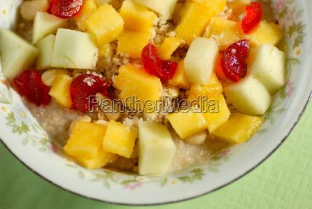 porridge, with, fresh, fruit, and - 667343