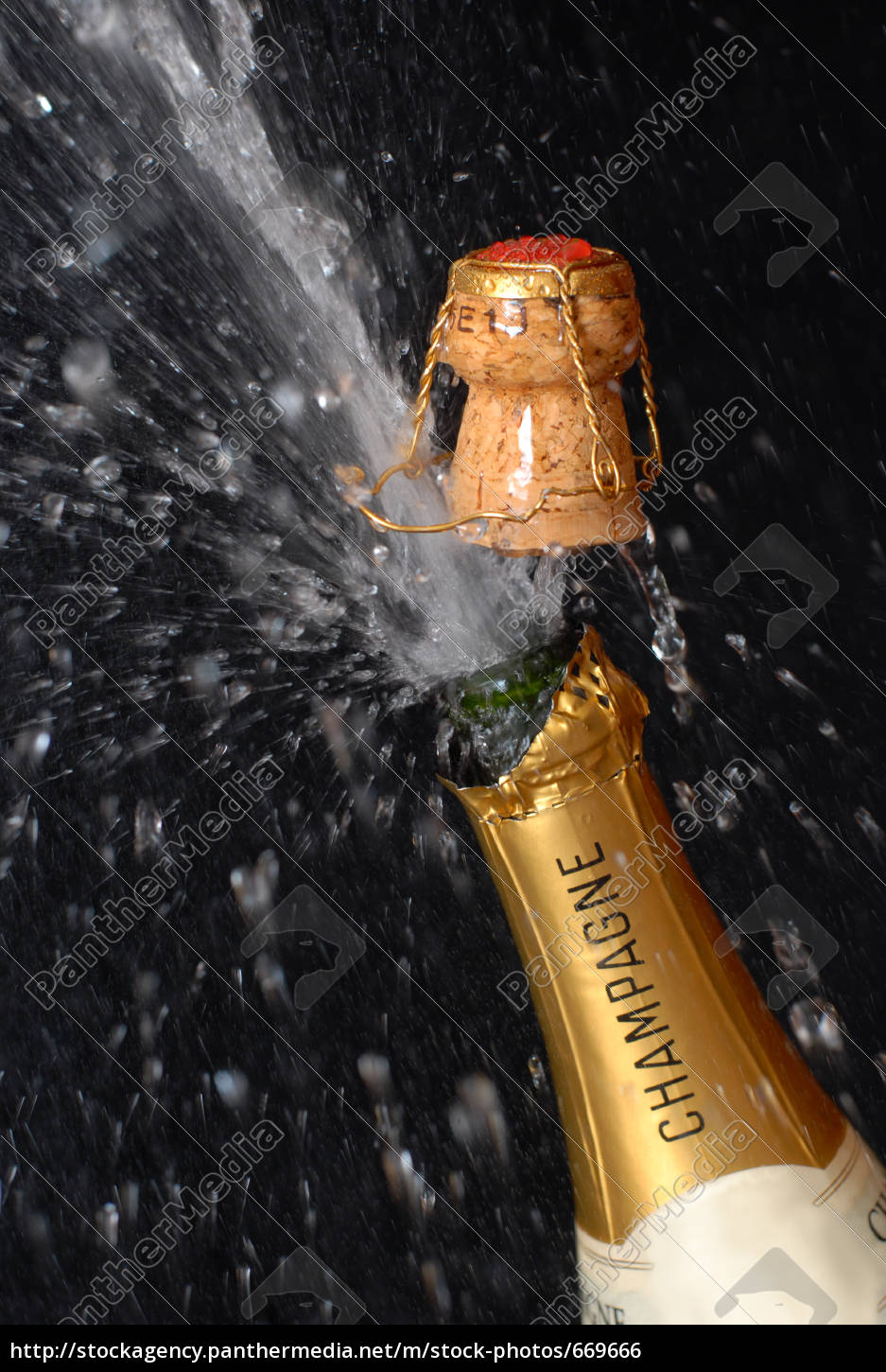 popping, champagne, bottle - 669666