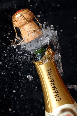 popping, champagne, bottle - 669669