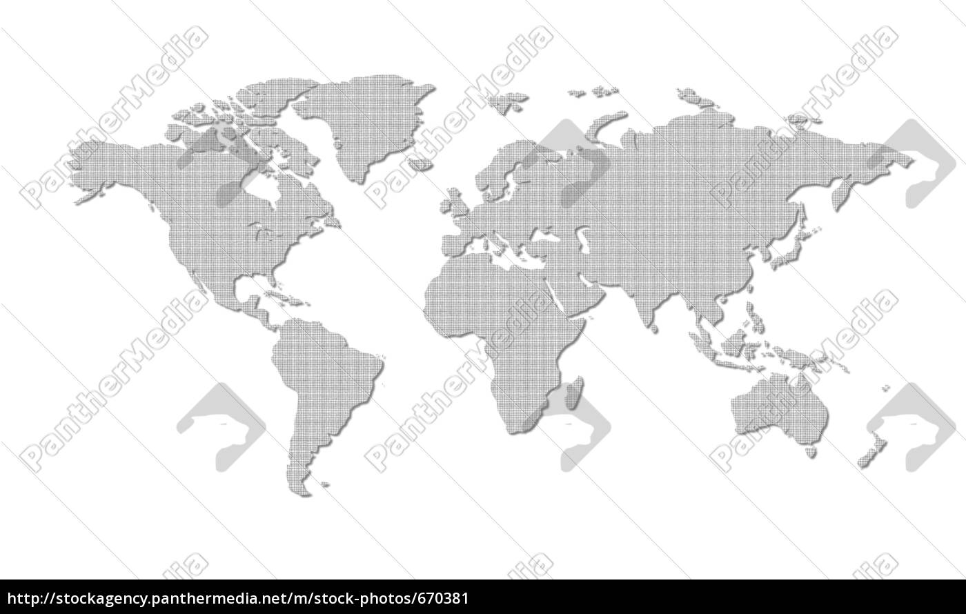 world, map, gray - 670381