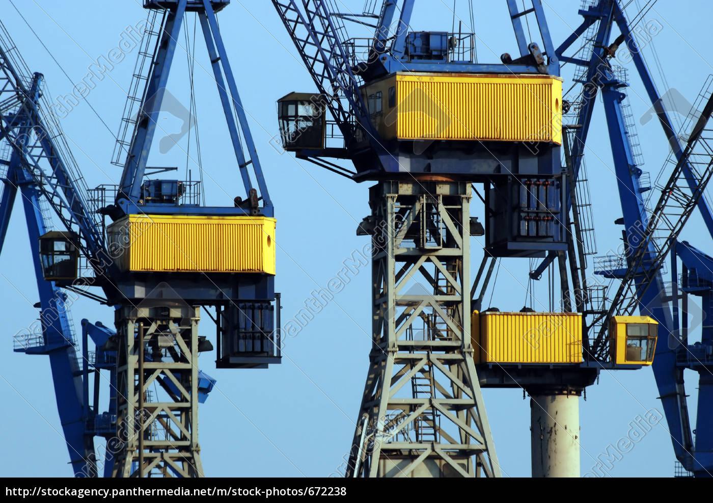 harbor, cranes, iii - 672238