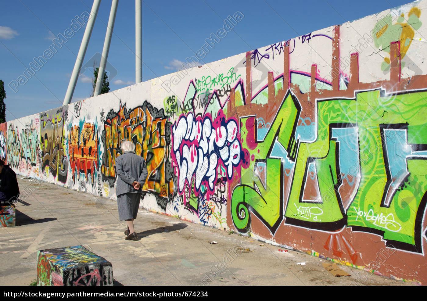 graffiti, -, walk, mauerpark - 674234