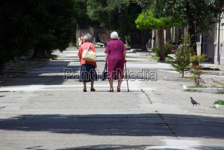 two old ladies traveling together