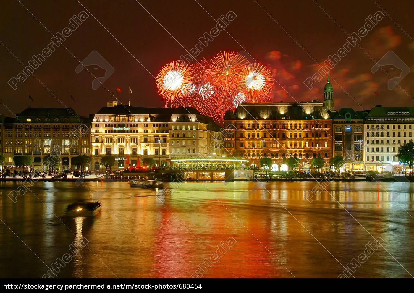 hamburg, jungfernstieg, with, fireworks - 680454