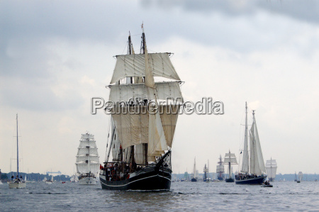 125th kieler woche windjammer parade