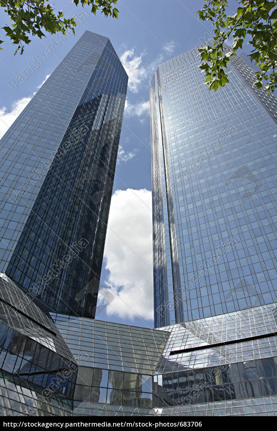 german, bank, towers, frankfurt - 683706