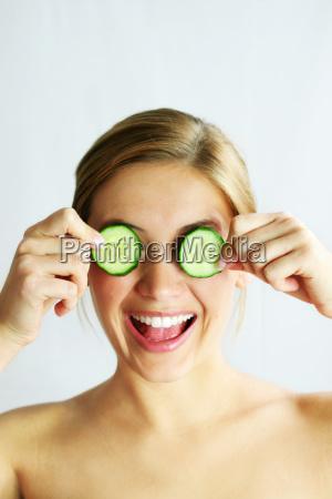 wellness, beauty, cucumber, face, mask - 704921