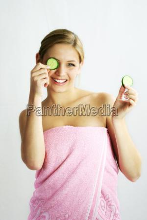 wellness, beauty, cucumber, mask - 704909