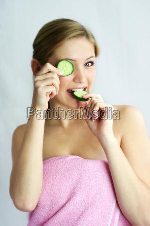 wellness, beauty, cucumber, mask - 704953
