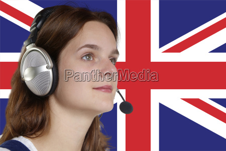 woman, with, headset - 711932