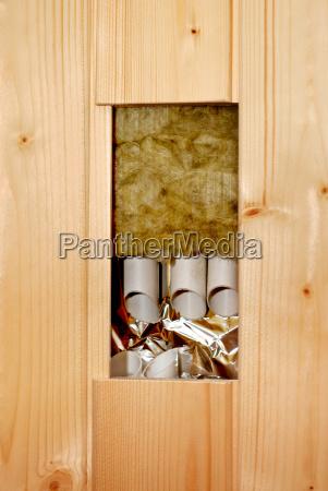 internal structure of sauna elements