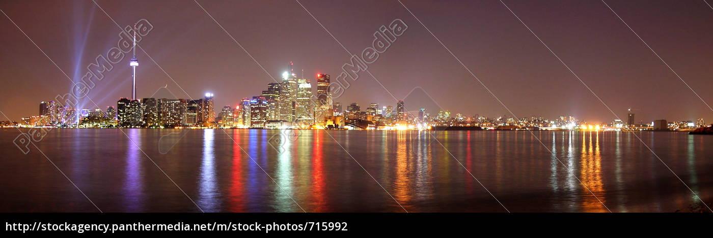 toronto, skyline, by, night - 715992