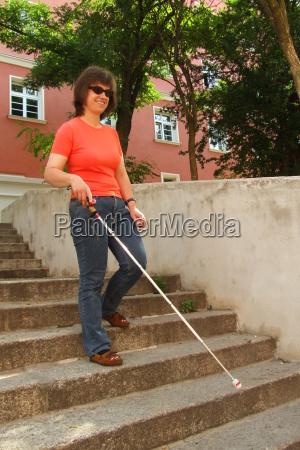 blind long pole