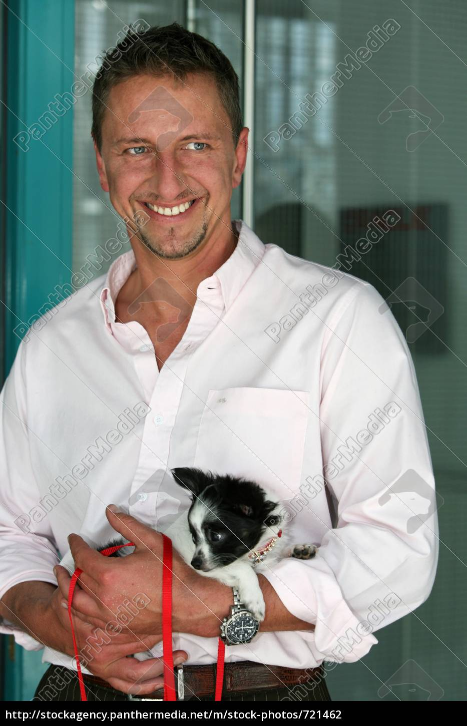 lecturer, with, small, dog - 721462