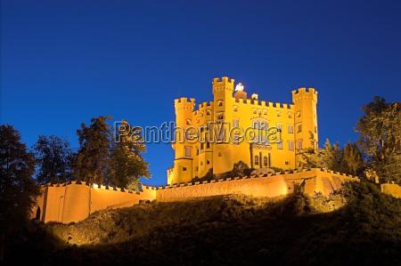 hohenschwangau, castle, at, night - 722796