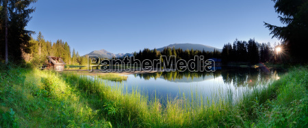 morning, idyll, at, schattensee - 723484