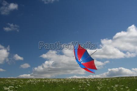 flying umbrella