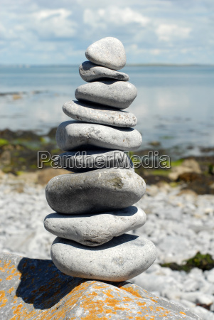 stone, pile, by, the, sea - 737426