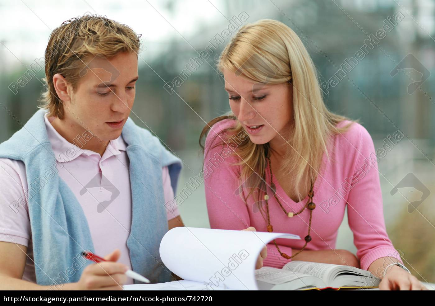 two, students, learn - 742720