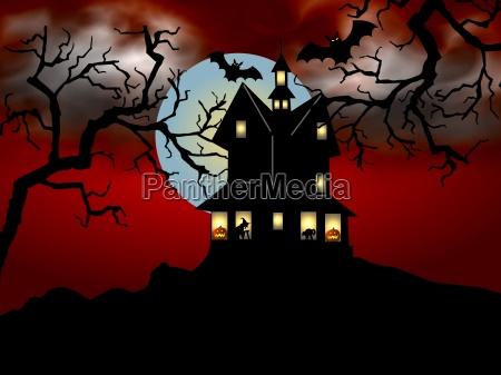 halloween, house, orange - 746998