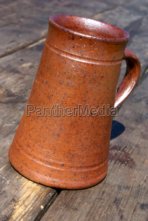 pitcher made of clay