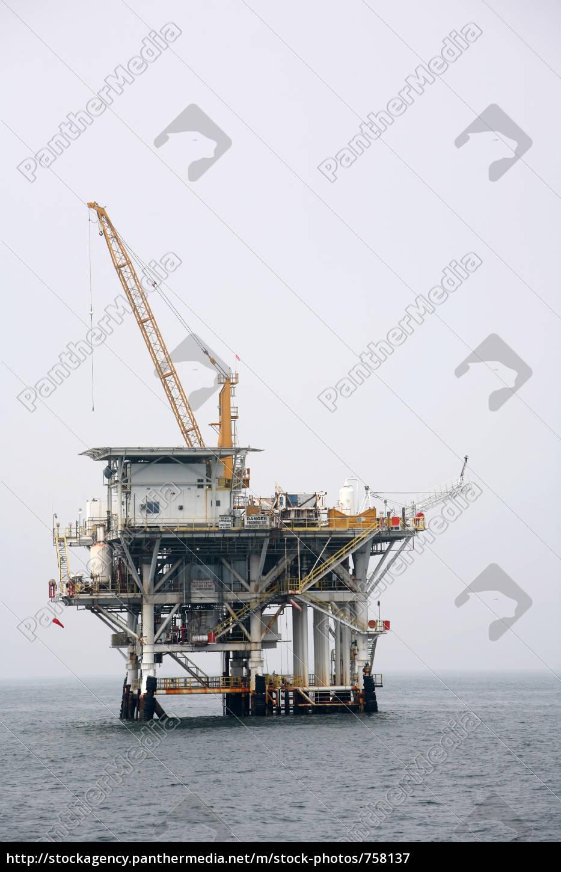 oil, rig, off, the, california, coast - 758137