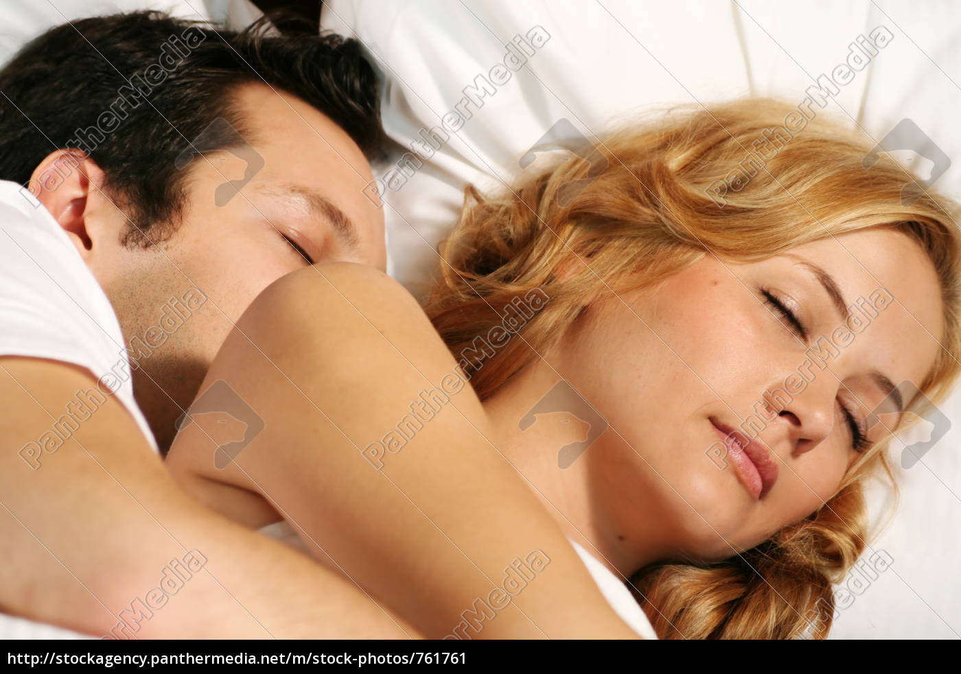 couple, in, bed - 761761