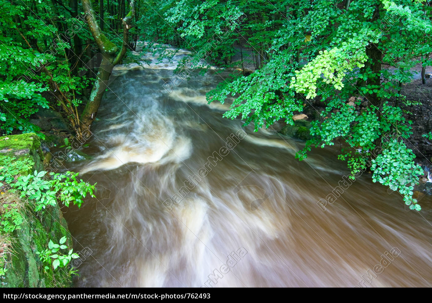 mountain, stream, in, flood - 762493