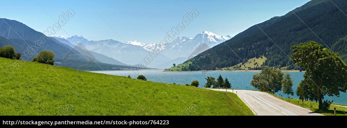 reschensee, with, ortlergruppe - 764223