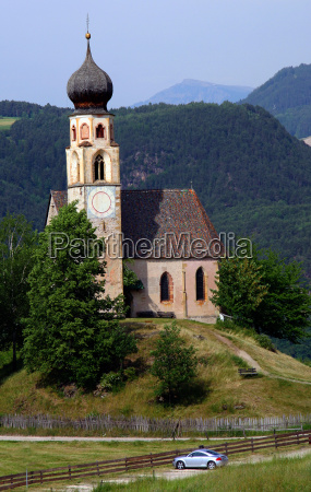 dolomites with chapel