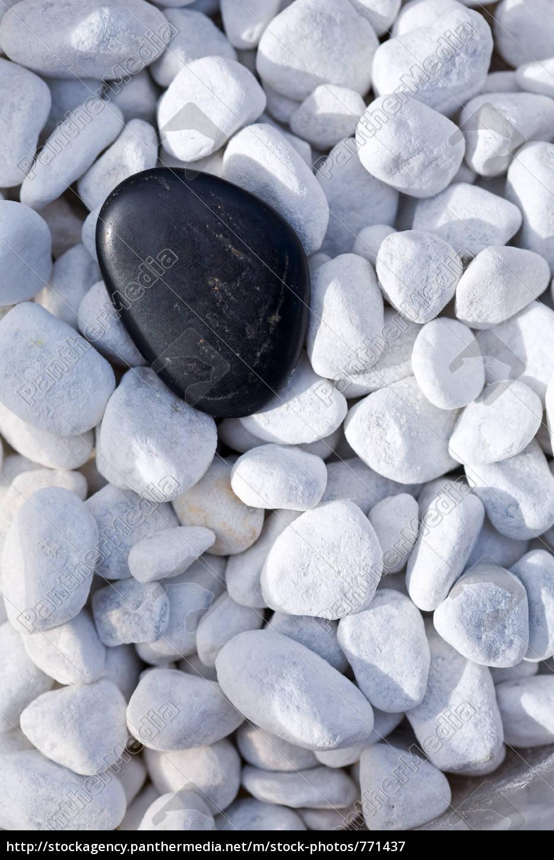 black, stone, on, decorative, pebbles - 771437