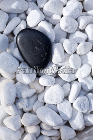 black, stone, on, decorative, pebbles - 771437