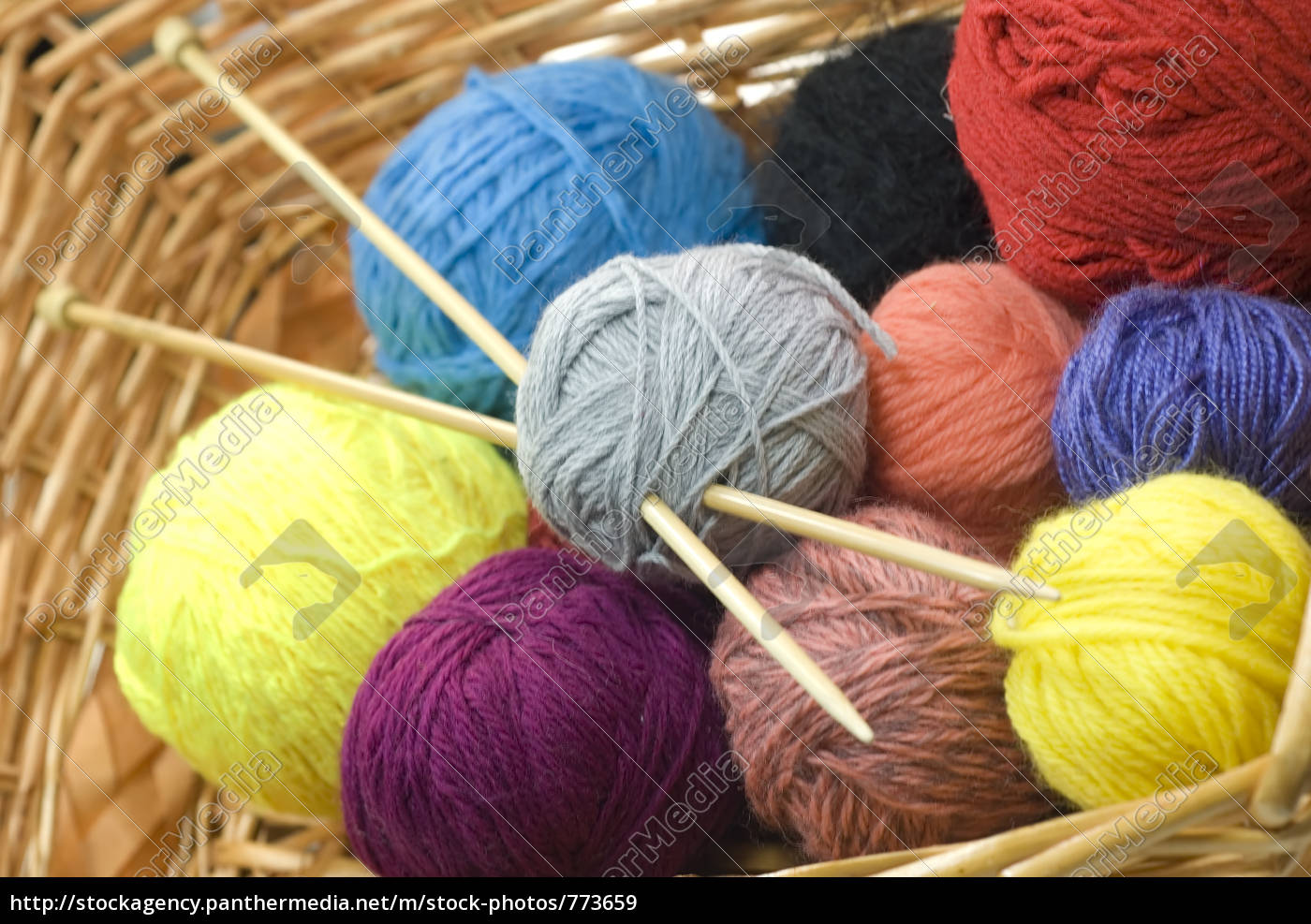 knitting, basket, 03 - 773659
