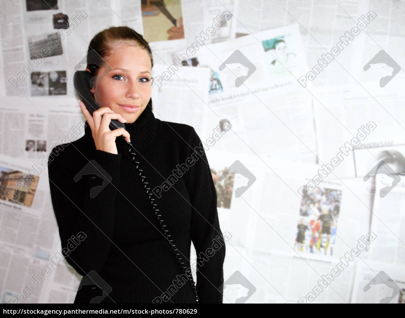 telephoning, businesswoman, at - 780629