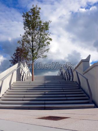azul escada arvore novo caucasiano hamburgo