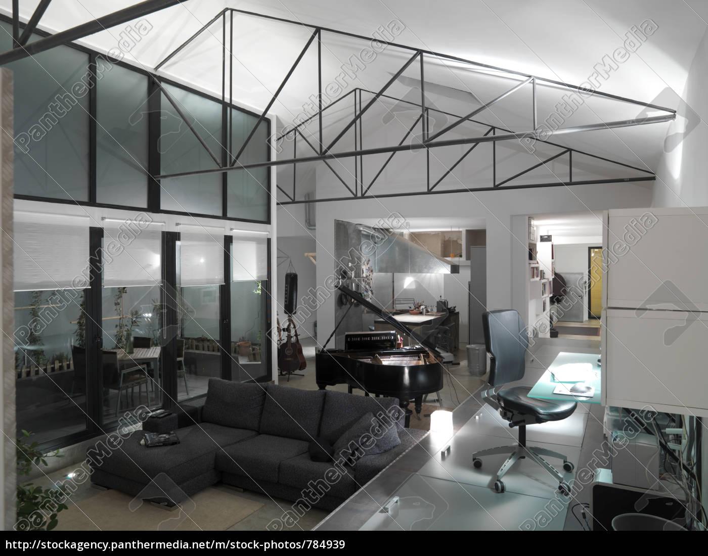 interior, at, night, in, loft - 784939