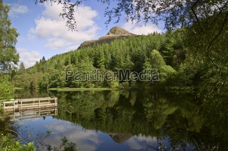 mountain, lake, at, glencoe, scotland - 784105