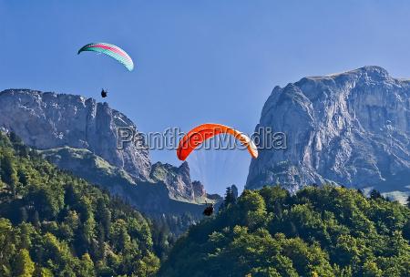 paragliding on alp sigel
