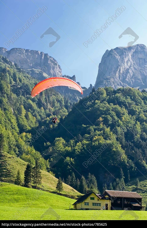 paragliding, on, alp, sigel - 785625