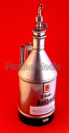 ether ether bottle medicine