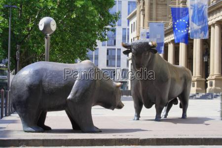 frankfurt, bull, and, bear - 795771