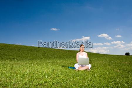 in, summer, meadow, on, notebook - 795079