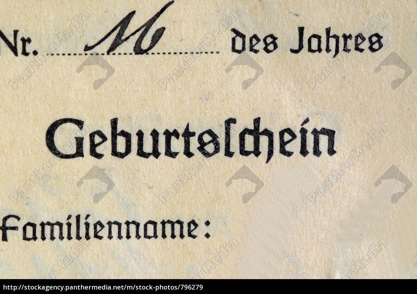 birth, certificate, historical - 796279