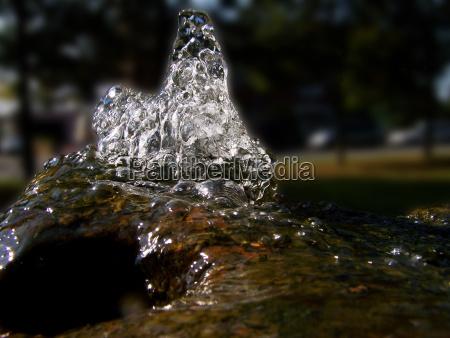 park refreshment blow fountain bubble source